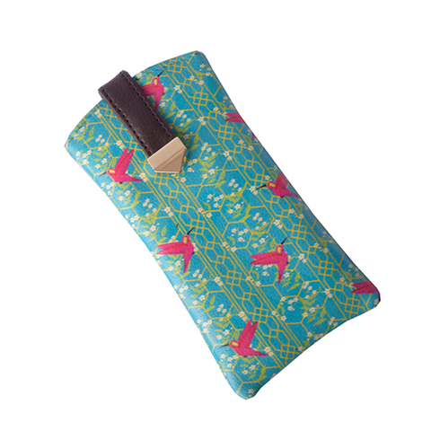 Pink Birds Flat Sunglass Cover