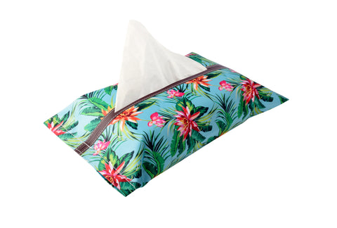 Tropical Flowers Tissue Box Cover