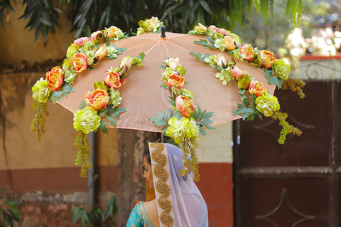 Bridal entry option on rent, Bridal entry option on hire, Bridal Entry, Umbrella for wedding, Phoolon ki Chaddar, Artifical flower Umbrella,