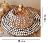 Crystal Domb  & Plate Set
