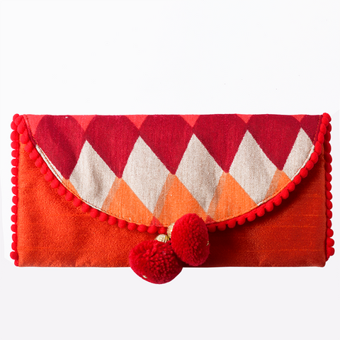 Ikat Fabric Envelope