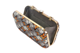 Orange Butterflies Printed Clutch