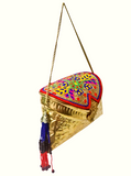 Metal Purse With Multicolour Bead Work