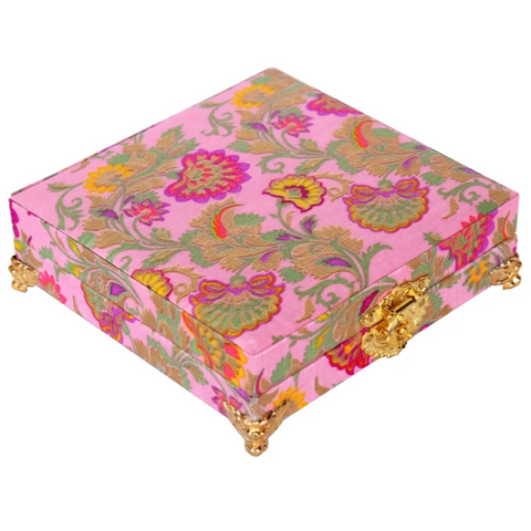 Brocade fabric Jewellery Set Gifting Box Small