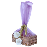 Set of 5 Pastel Mini Box Pouch With Flower Cord Tie
