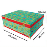 Brocade wooden Small Trousseau Box