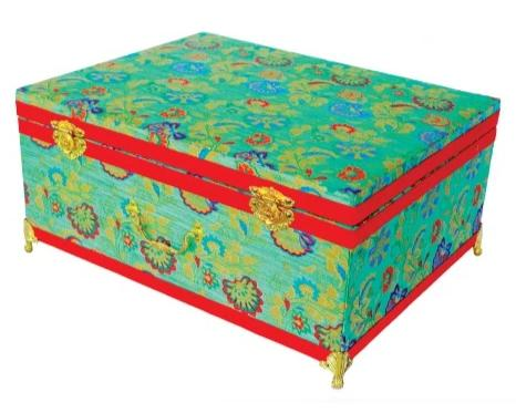 Brocade wooden Big Trousseau Box