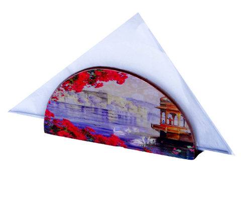 Bougainvillea D Shaped Napkin Holder