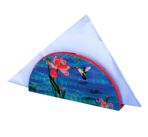 Lotus Watershed D Shaped Napkin Holder