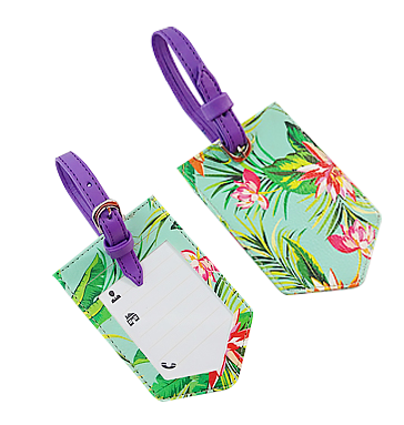 Tropical Flowers Baggage Tags