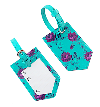 Purple Rose Baggage Tags