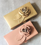 Leatherite Rose Cash Box