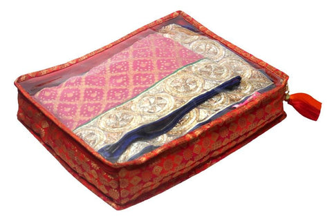 Quilted Brocade Saree/Suit Storage Cover