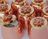 Brass Jars container, container for dryfruits gifting, dryfruit gifting, Copper finish jars, Brass Jars,