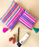Travel pouches, fabric pouches, jacquard fabric pouches, travel accessories
