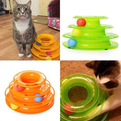 Cat Toy-Three Levels Tower Tracks Disc