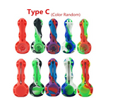 1pc Silicone Smoking Pipe Silicone Tobacco Pipe Random Color Portable and Easy to Clean