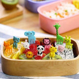 10 Pcs Child Cartoon Animal Food Fruit Pick Decor