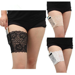 2Pcs Lace Pocket Anti-Chafing Thigh Bands