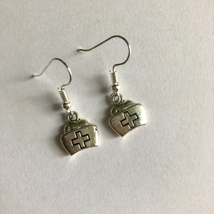 Nurse Earrings / Gift for Nurses / Nursing Cap / NHS Heroes
