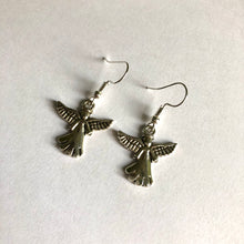 Guardian Angel Earrings / Silver Angel Earrings / Christmas Angel