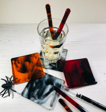Halloween Coaster and Drink Stirrer Set / Spooky Halloween Decor / Blood / Goth Gift