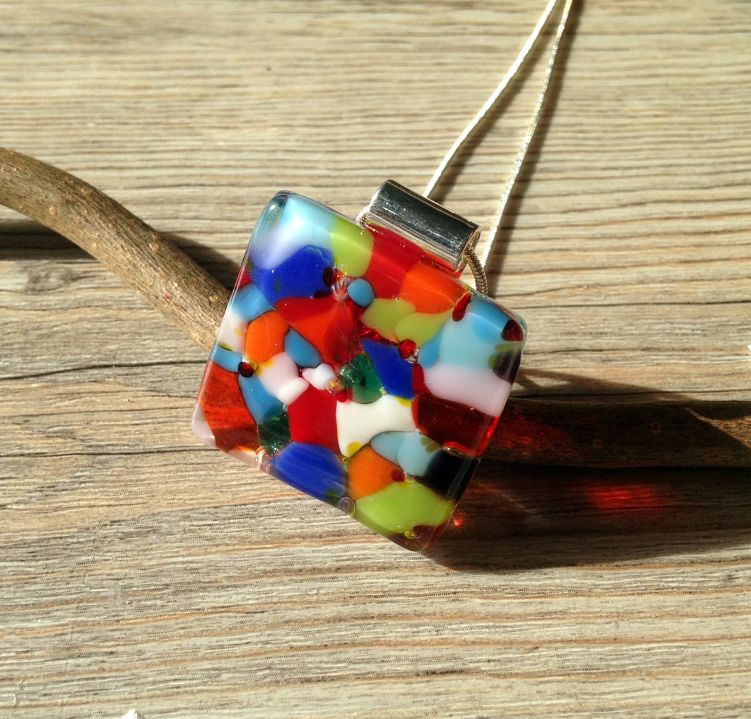 Confetti Necklace Rainbow Jewellery Summer Necklace