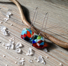 Confetti Earrings / Rainbow Earrings / Sterling Silver Kidney Wire
