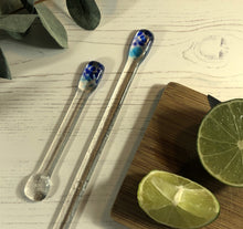 Cocktail Stirrer / Drink Stirrer / Quarantini / Swizzle Stick - Blue and Turquoise