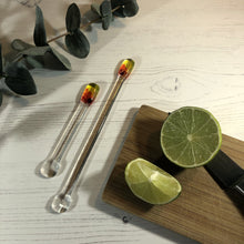 Cocktail Stirrer / Drink Stirrer / Quarantini / Swizzle Stick - Red, Yellow and Orange