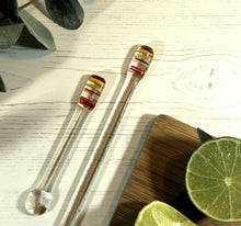 Cocktail Stirrer / Drink Stirrer / Quarantini / Swizzle Stick - Retro Stripes