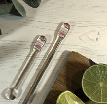 Cocktail Stirrer / Drink Stirrer / Quarantini / Swizzle Stick - Candy Stripes