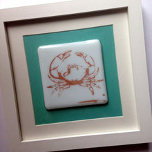 Copper Crab Layered Photo Glass Print Artglass Seafood Lover