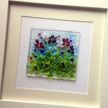Flower Wall Art Meadow Art Glass Summer Flowers Blue Iris Flower Meadow