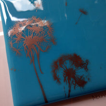 Copper Dandelion Layered  Glass Print  Dandelion Artglass Nature Lover