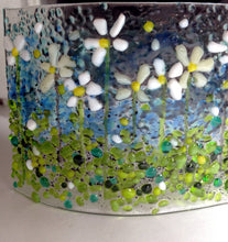 Summer Flower Meadow Glass Art Summer White Flowers Daisies Meadow