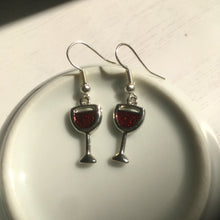 Red Wine Earrings / Wine Glass Earrings / Gift for Wine Lover