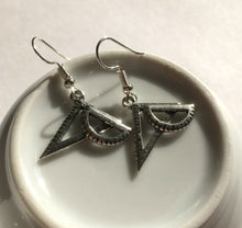 Protractor and Set Square Earrings / Maths Geek / Teacher Gift