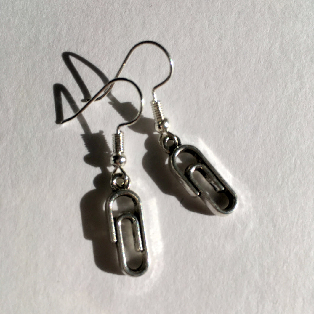 Paper Clip Earrings / Office Party / Secret Santa Gift / Secretary Gift