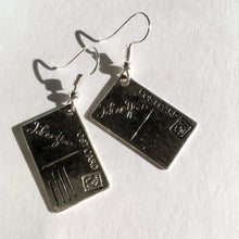 Wish you were here Postcard Earrings / Love Letter Gift / Postcard Jewellery