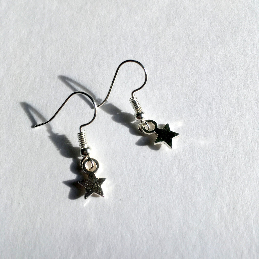 Mini Silver Star Earrings / You are a Star / Christmas Earrings / Star Earrings
