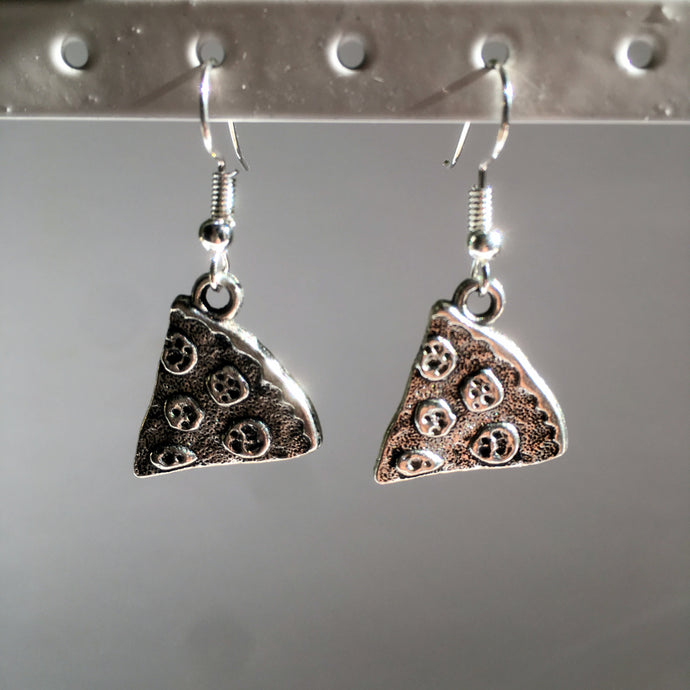 Pizza Earrings / Pizza Lover / Silver Pizza Slice / Gift for Teenager