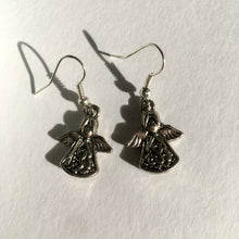 Silver Angel Earrings / Christmas Angel / Guardian Angel Earrings