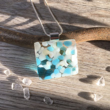 Turquoise Pebble Necklace / Turquoise and White Necklace / Summer Holiday Jewellery