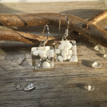 Snowball Earrings / Let it Snow Sterling Silver Glass Earrings / Winter Earrings