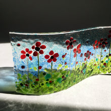 Poppy Flower Meadow Remembrance Handmade Glass Ornament
