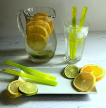 Lemonade Drink Stirrers / Lime Cocktail Stirrers / Reuseable Drink Stirrers