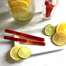 Lemonade Drink Stirrers / Red Cocktail Stirrers / Reuseable Drink Stirrers