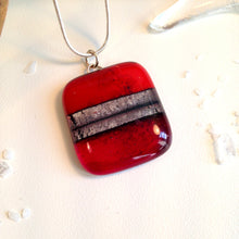 Clearance: Ruby Red Silver Necklace Birthday Gift / Gift for Her / Anniversary