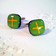 Gift for Dad / Green Cufflinks / Gift for Brother / Gift for Punklover / Everyday Cufflinks